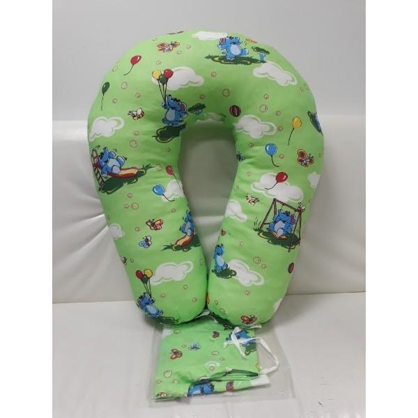 """Подушка """"Зеленая/игрушки"""" для беременных и кормления"""