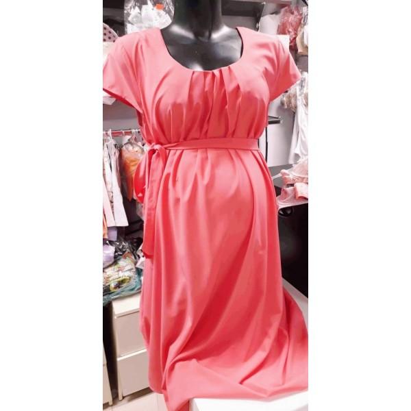 Летнее платье для беременных коралл