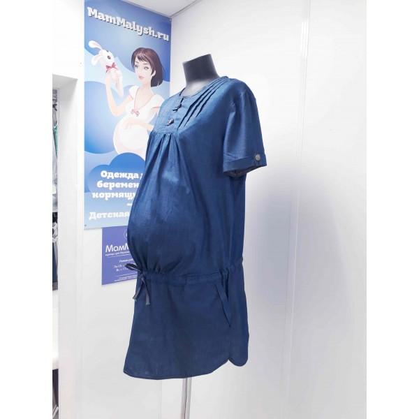 Летнее платье для беременных Джинс