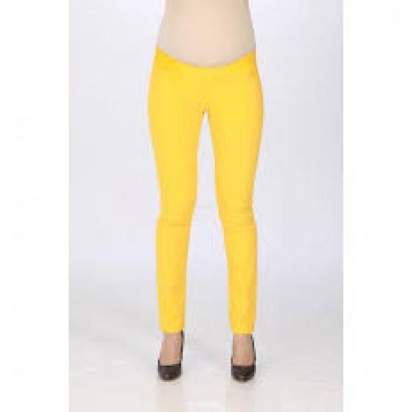 Летние джинсы для беременных лимонные