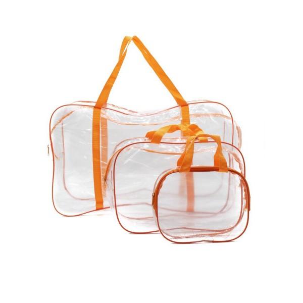 Набор сумок в роддом оранжевый (3 шт)