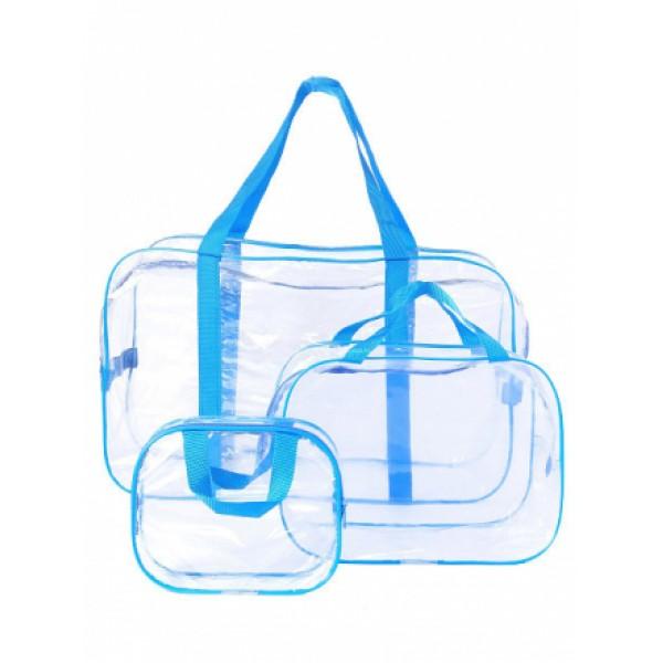 Набор сумок в роддом голубой (3 шт)