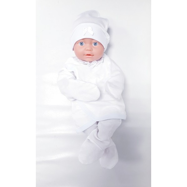 Комплект для новорожденных 3 предмета белый