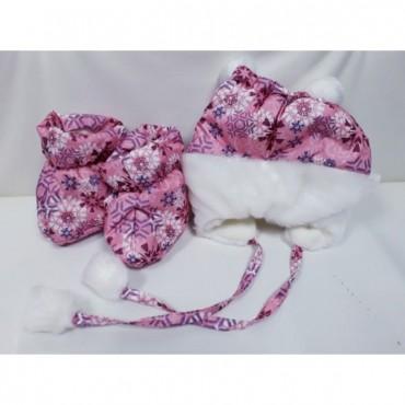 Комплект для новорожденных зимний Розовый