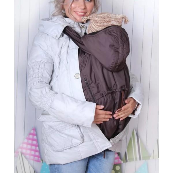 Слинговставка (в вашу куртку) для ношения под ней ребенка в переноске шоколад