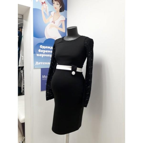 Летнее платье для беременных сиреневое