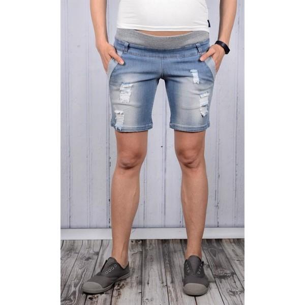 Шорты для беременных джинсовые св.деним
